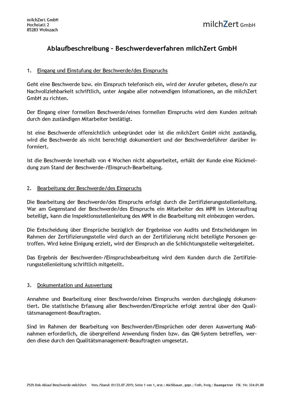 Famous Formeller Brief Beschwerde Probe Pattern - FORTSETZUNG ...